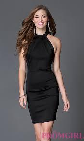 halter open back semi formal dress