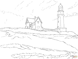 lighthouse hill by edward hopper coloring page free printable