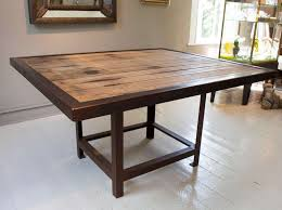 reclaimed wood square dining table lovable reclaimed wood square dining table 17 best ideas about