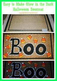 glow in the dark halloween doormat