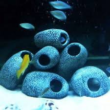 for cichlid ceramic rock cave aquarium fish tank ornament