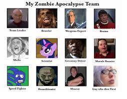 Zombie Team Meme - ganzorf s zombie apocalypse team by ganzorf on deviantart