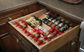 wood mode cabinet accessories spice drawer insert wood mode fine custom cabinetry clever