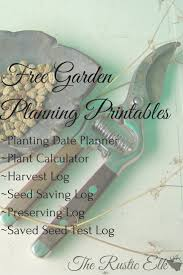 garden layout planner free free garden planning printables the rustic elk