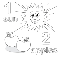 preschool coloring pages back to and color by number page