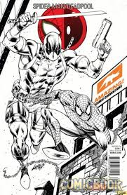 spider man deadpool 1 signed exclusive sketch cover rob liefeld