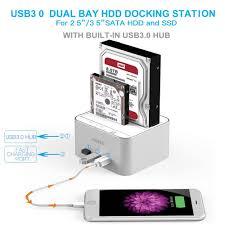 usb 3 0 hard drive docking station fideco aluminum usb amazon co