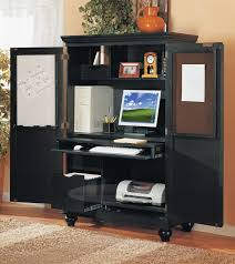 Locking Computer Armoire Table Design Bermuda Armoire Desk With Compact And Hutch