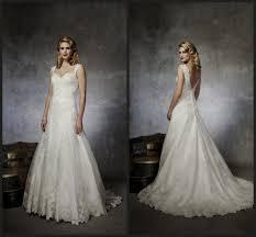 lace back wedding dress a line naf dresses