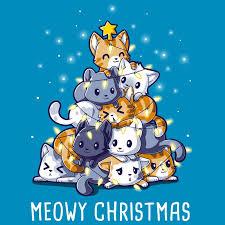 meowy christmas meowy christmas nerdy shirts teeturtle