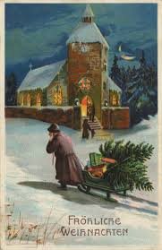 antique german christmas postcard christmas time is here