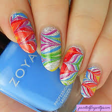 water marble wednesday rainbow and silver water marble painted