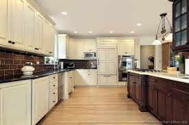 wood and white kitchen cabinets kitchen and decor