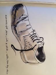 illustration level 1 project creative thinking u0026 problem solving in this illustration i have used tea bags to stain the paper in order to make the rough colour of the shoe along with ink mark making to create the tough