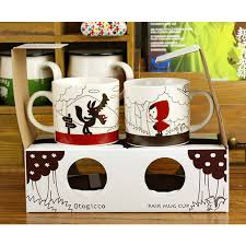 cool cups in the hood 2 in 1 couples coffee cups cartoon little red riding hood cute