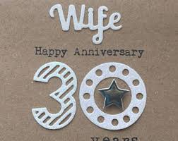 anniversaire de mariage 30 ans anniversaire 30 ans etsy