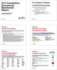 ux report template competitive ux benchmarking