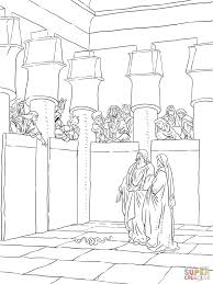 moses and aaron appear before pharaoh coloring page free