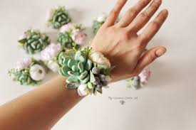 where can i buy a corsage and boutonniere for prom succulent corsage bracelet wedding flowers groom boutonniere