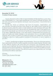 letter of recommendation for graduate sample lor service