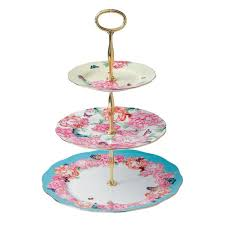 tiered cake stands royal albert miranda kerr 3 tier cake stand reviews wayfair