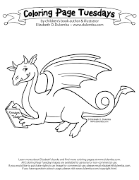 dulemba coloring tuesday reading dragon