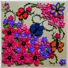 quilled flowers and butterfly kalanirmitee creations