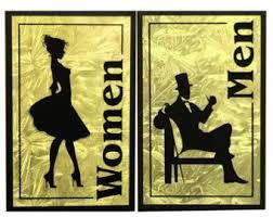 Mens And Womens Bathroom Signs Womens Bathroom Sign Etsy