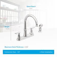 moen high arc kitchen faucet fascinating moen glenshire singlehandle pulldown sprayer kitchen