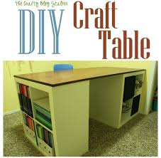 Diy Craft Desk With Storage Joyous Table Diy Craft Ideas Then Diy Craft Table Crafthubs Table