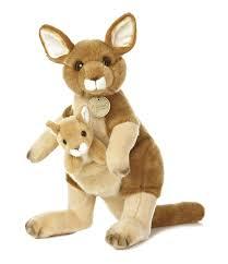 amazon com aurora world miyoni mom and baby kangaroo and joey