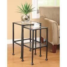 Glass And Metal Sofa Table Southern Enterprises Black Metal End Table Hayneedle