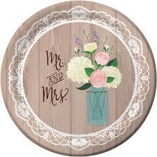bulk rustic wedding paper plates napkins