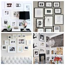 black and white frames gallery wall we love how sarah sherman