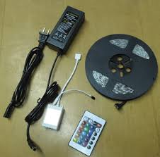 12 Volt Led Lighting Strips by Multicolor Led Light Strip With Remote Wireless Dimmer Control For