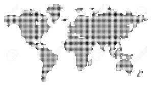 World Map Silhouette Simplified Silhouette Of World Map Vector Illustration Royalty And