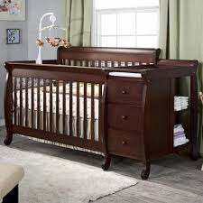 black baby cribs with changing table attached modern home design