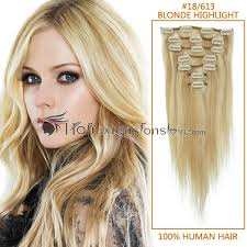 22 inch extensions 22 inch 18 613 highlight clip in remy human hair