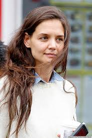 make up tips for salt and pepper hair katie holmes gray hair actress steps out with no makeup undyed