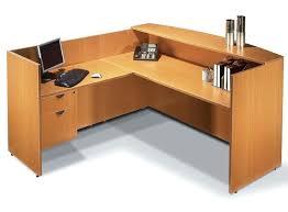 Desktop Filing Cabinet Office Desk Lockable Office Desk Reversible L Shape Reception