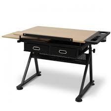 bureau dessinateur bureau table à dessin avec tabouret doté de 2 grands tiroirs pour m