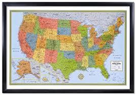 map usa framed 32x50 rand mcnally united states usa wall map framed