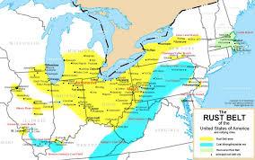 Map Of The United States Great Lakes by Where Is The Rust Belt Belt Magazine Dispatches From The Rust