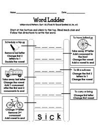 word ladders short and long vowel cvc and cvce words by