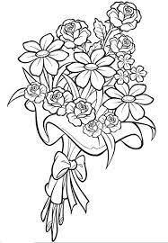 resultado imagen ramos flores colorear proyectos