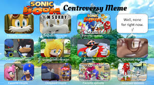 Sonic Boom Meme - sonic boom controversy meme by toad900 on deviantart