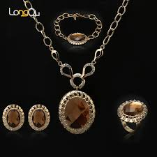 gold costume necklace images Buy 2018 bridal wedding jewelry set gold color jpg