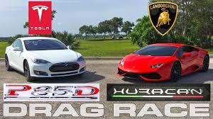 nissan gtr vs lamborghini lamborghini huracan vs tesla model s p85d ludicrous drag race