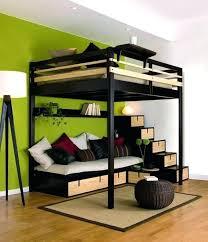 lit en hauteur avec canapé lit superpose clic clac lit mezzanine avec banquette clic clac lit