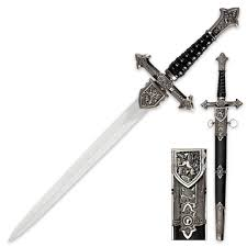 ornamental black sword with sheath true swords